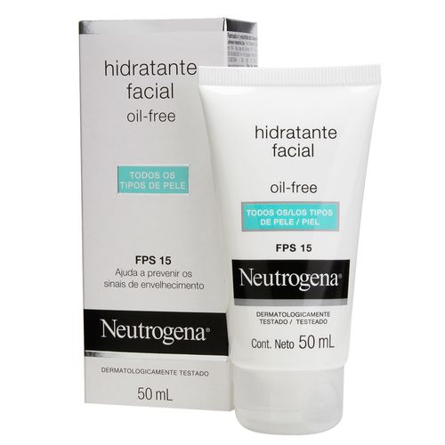 Gel Creme Hidratante Facial Neutrogena Oil Free Fps 15 50ml