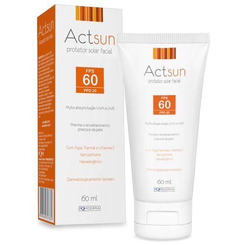 Actsun Protetor Solar Facial Fps60 60ml