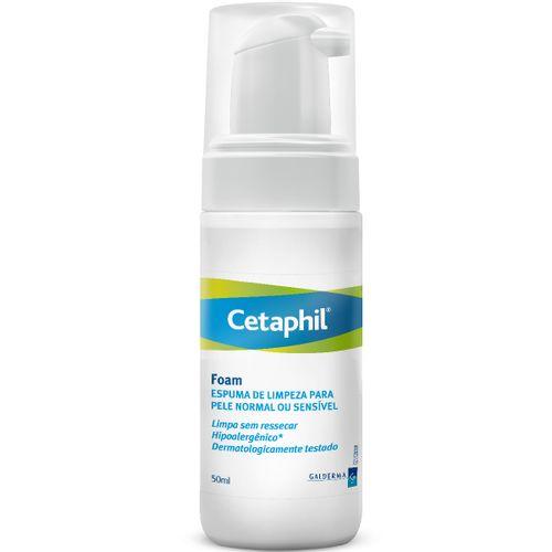 Cetaphil Espuma De Limpeza Para Pele Normal Ou Sensível 50ml