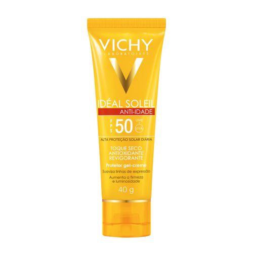 Ideal Soleil Anti-Idade Vichy Fps50 Toque Seco Gel Creme 40g