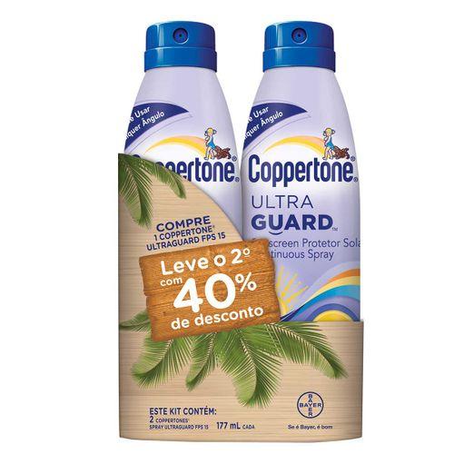 Protetor Solar Coppertone Ultraguard Fps 15 Locao 177ml Com 40% Na Segunda Unidade