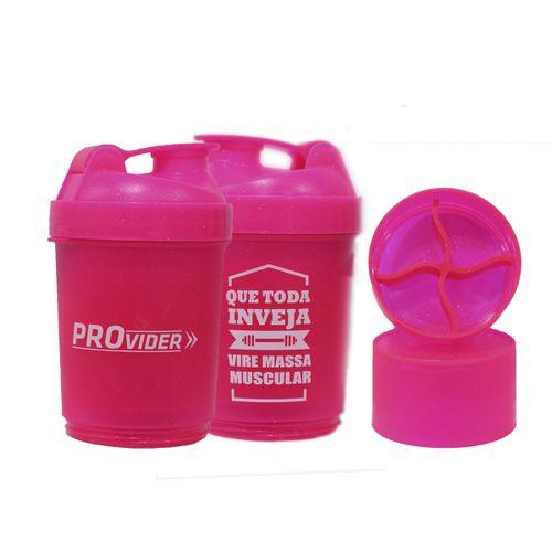 Coqueteleira Compartimentos Provider Rosa 500ml