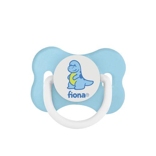 Chupeta Desenho Fiona Ortodôntica Silicone Tamanho 2 Cor Azul Com 01 Unidade