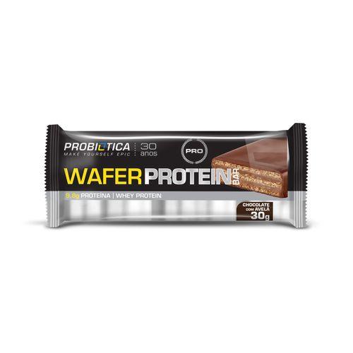 Wafer Protein Probiotica Chocolate Com Avelá 30g