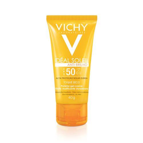 Protetor Solar Facial Vichy Ideal Soleil Toque Seco Fps50 40g