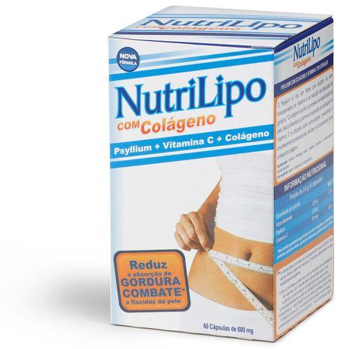 Nutrilipo Psyllium + Vitamina C + Colageno Com 60 Cápsulas  Gelatinosas Dura
