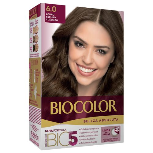 Tintura Biocolor Beleza Absoluta Louro Escuro Clássico 6.0