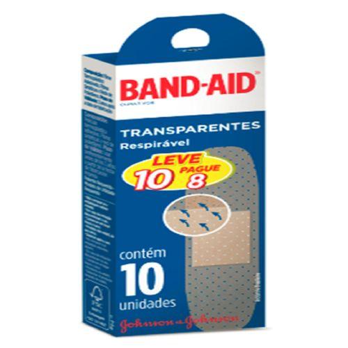 Curativo Band Aid Transperantes Leve 10 Pague 8
