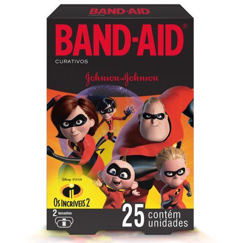 Curativo Band Aid Os Incriveis Com 25 Unidades