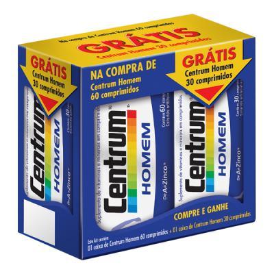 Centrum Homem  Kit Leve 90 Comprimidos e Pague Apenas 60 Comprimidos