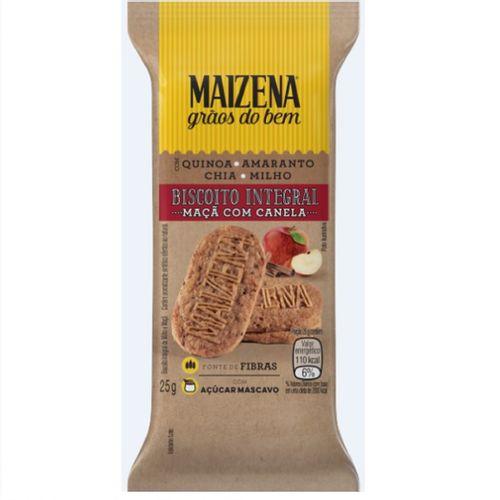 Biscoito Integral Maizena Maçã Com Canela 25g