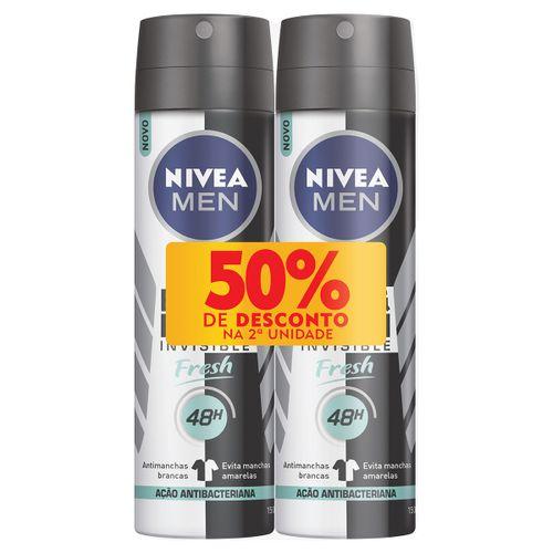 Desodorante Nivea Men Fresh Aerosol 90g Com 2 Unidades 50% De Desconto Na 2ª Unidade