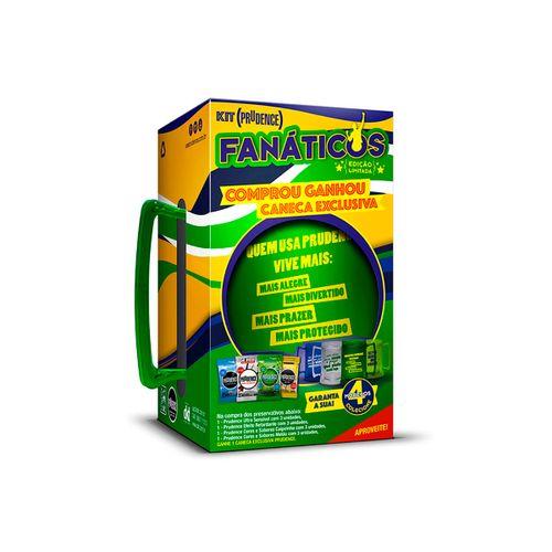 Kit Com Preservativos Fanaticos Sensivel, Retardante, Caipirinha E Melão Com 12 Unidades Grátis Caneca
