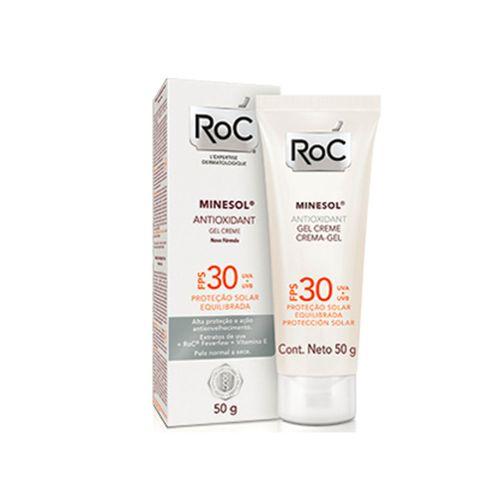 Bloqueador Solar Roc Minesol Antioxidante Fps30 Gel 50g