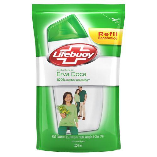Sabonete Lifebuoy Erva Doce Liquido Refil 200ml