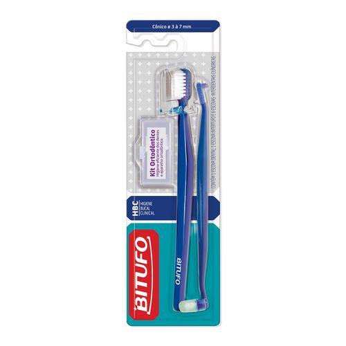 Escova Dental Bitufo Kit Ortodôntico Cônico