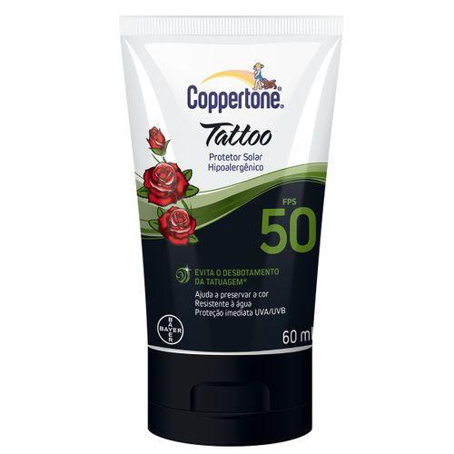 Protetor Solar Coppertone Tattoo Locao Fps50 60 Ml