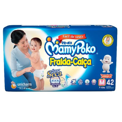 Fralda-Calça Mamypoko Super Seca Mega Tamanho M Com 42 Unidades