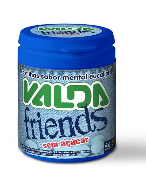 Pastilha Valda Friends, Sem Açúcar - 50g