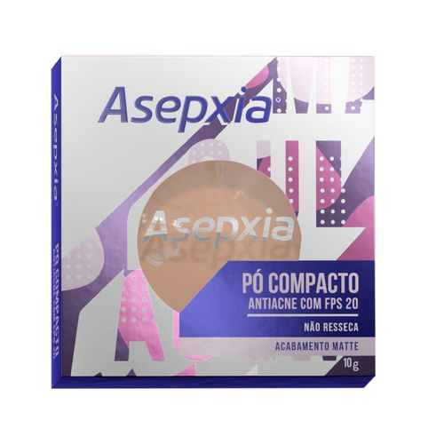 Po Compacto Asepxia Matte Antiacne Fps20 Cor Bege Claro