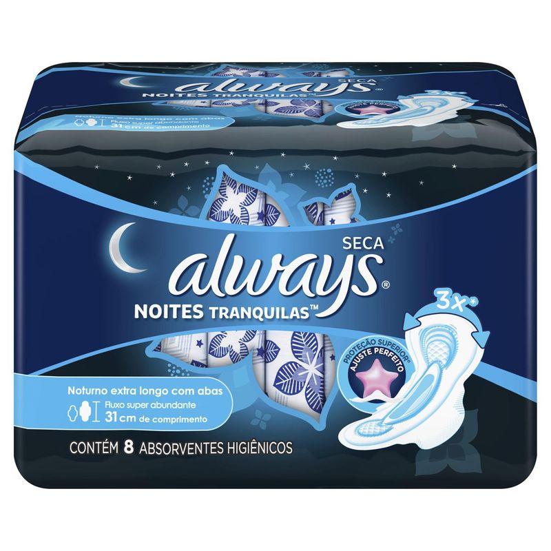 absorvente-always-noites-tranquilas-seca-com-abas-extra-longo-8-unidades-principal
