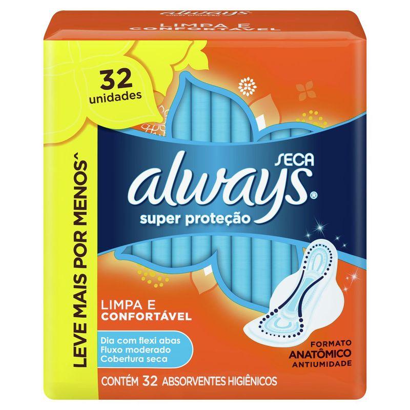 absorvente-always-super-protecao-seca-com-abas-32-unidades-principal