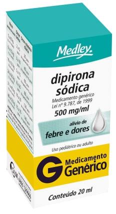 Dipirona Sódica 500mg Gotas 20ml Genérico Medley