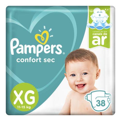 Fralda Pampers Confort Sec  Xg 38 Unidades