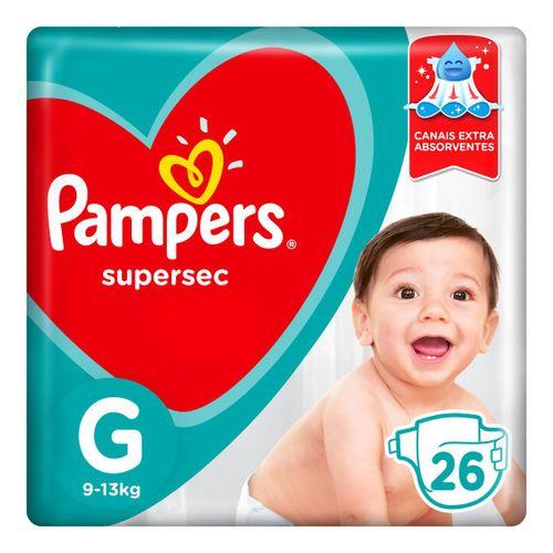 Fraldas Pampers Supersec G 26 Unidades