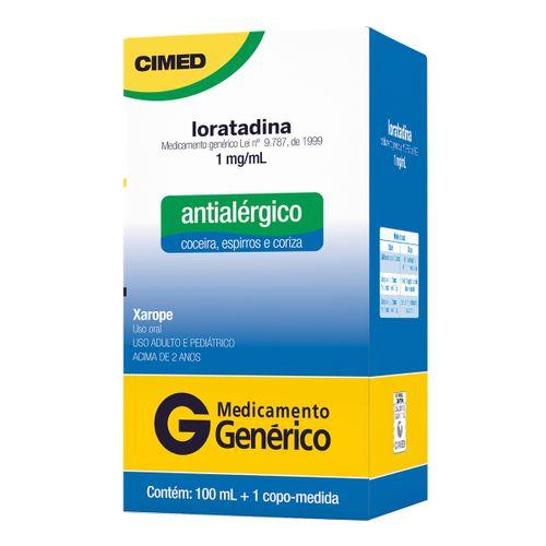 Loratadina Xarope 100ml Generico Cimed