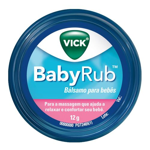 Vick Babyrub Balsamo Para Bebes 12g