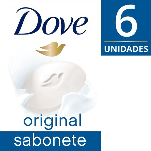 Sabonete Em Barra Dove  Branco 90 Gr 6 Unidades