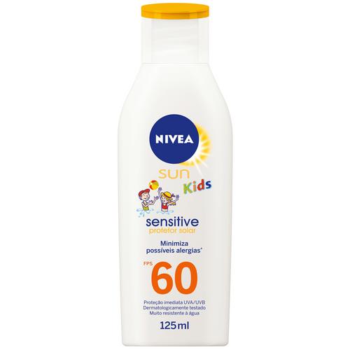 Protetor Solar Nivea Sun Kids Sensitive Fps60 125ml Gratis Balde De Praia
