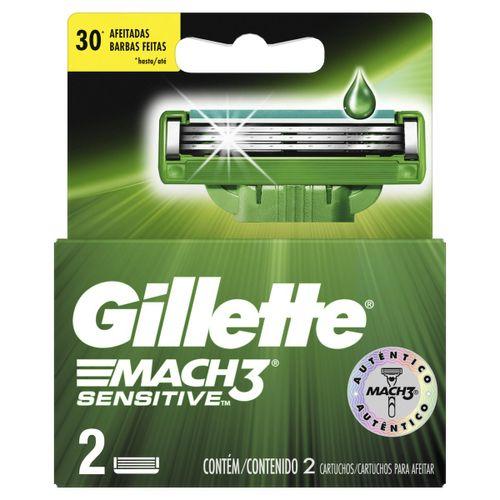 Carga Gillette  Mach3 Sensitive Com 2 Unidades