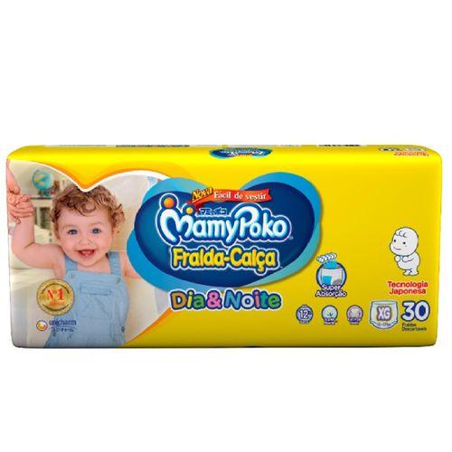 Fralda - Calça Mamypoko Dia & Noite Mega Tamanho Xg Com 30 Unidades