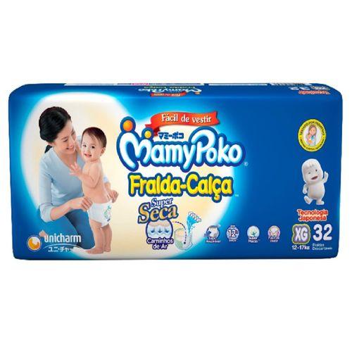 Fralda-Calça Mamypoko Super Seca Mega Tamanho Xg Com 32 Unidades