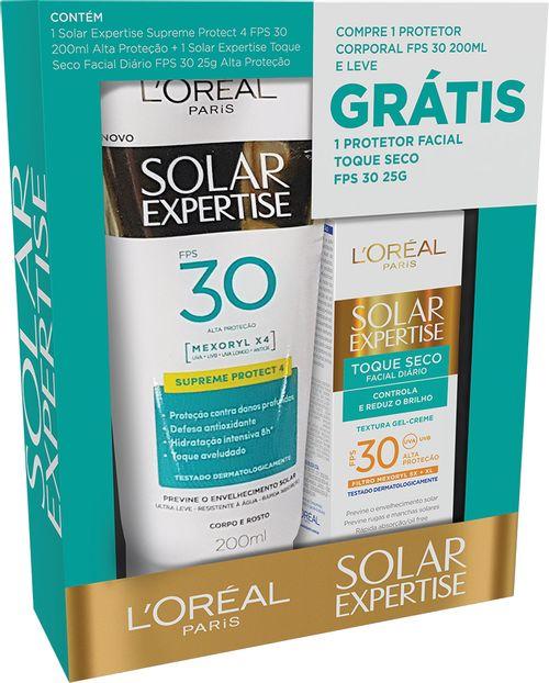 Protetor Solar Expertise Fps30 200ml Grátis Protetor Solar Facial Toque Seco Q25g