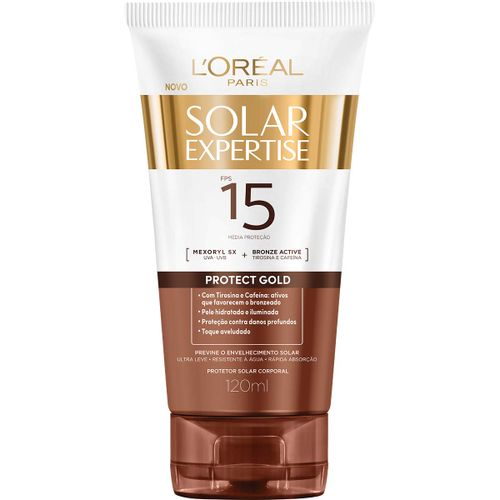 Protetor Solar Corporal Loreal Expertise Protect Gold Fps15 120ml