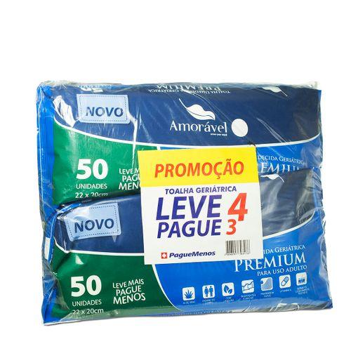Toalha Umedecidas Amoravel Geriátrica Com 50 Leve 4 Pague 3