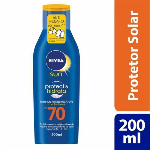 Protetor Solar Nivea Sun Protect & Hidrata Fps 70 200ml