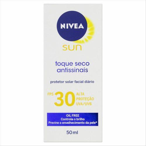 Protetor Solar Nivea Sun Facial Toque Seco Fps30 50ml