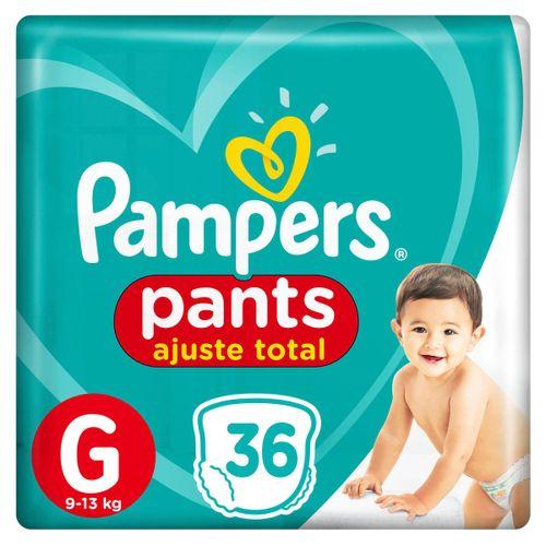 Fralda Pampers Pants Ajuste Total Mega Tamanho G Com 36 Unidades