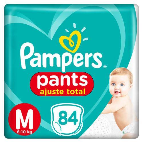 Fralda Pampers Pants Ajuste Total Giga Tamnaho M Com 84 Unidades