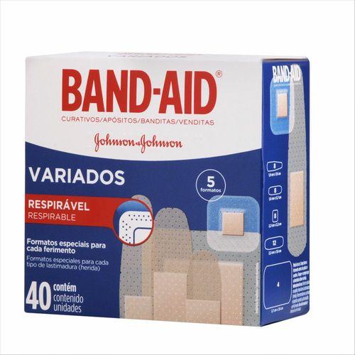 Curativos Band Aid Variados 40 Unidades