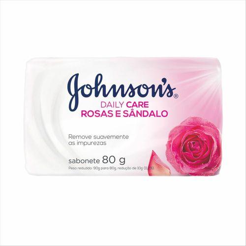Sabonete Em Barra Johnsons Daily Care Rosas E Sândalo 80g