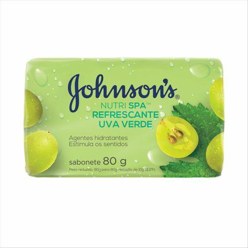 Sabonete Em Barra Johnsons Nutrispa Uva Verde 80g