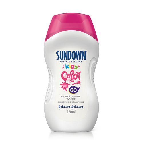 Protetor Solar Sundown Kids Color Fps 60 120ml