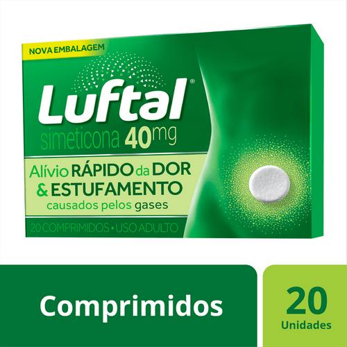 Antigases Luftal Simeticona 40mg - 20 Comprimidos