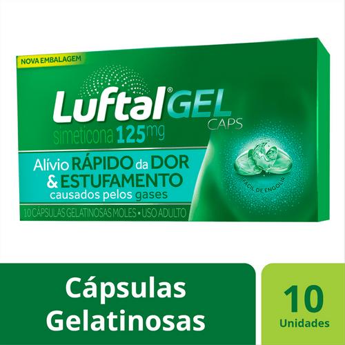 Antigases Luftal Gel Caps Simeticona 125mg - 10 Cápsulas Gelatinosas