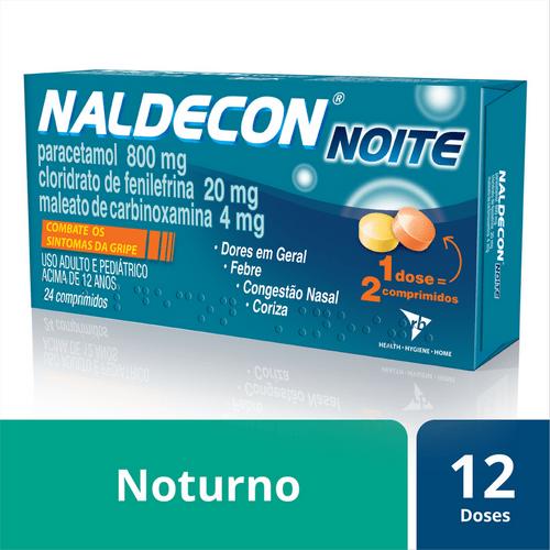 Antigripal Naldecon Noite - Caixa 24 Comprimidos